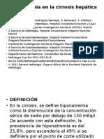 Hiponatremia en La Cirrosis Hepática