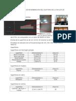 Calculo Del Tiempo de Reverberacion Del Auditorio de La Faculta de Arquitectura Uncp