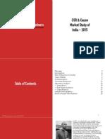CSR & Cause Market Study of India 2015