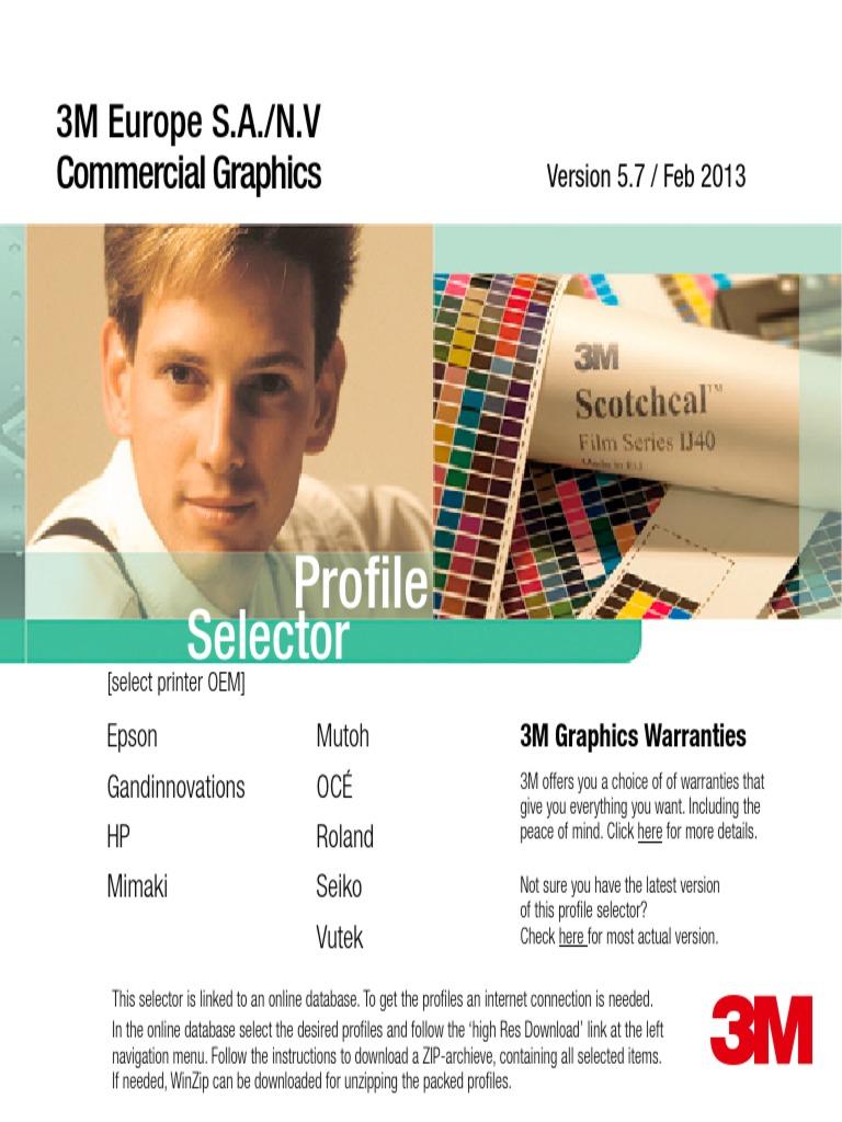 3M Media Profile Selector 5 7 | Printer (Computing) | Office Equipment