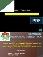 Seminar Proposal Bahasa Inggris SO-ELT
