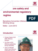 UK Offshore Regulatory Regime - Barcelona Convention Offshore WG - June 2013