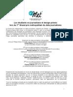 Palmarès Grand Prix Métropolitain du Data Journalisme