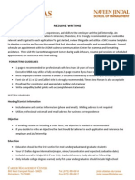 Resume Writing Guidelines Handout