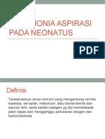 Pneumonia Aspirasi Pada Neonatus