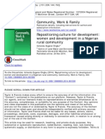 Repositioning Culture for Development- Women and Development in a Nigerian Rural Community