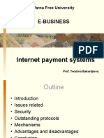 E Business Internet Payment Systems