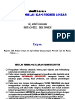 Panduan Praktif Belajar Statistik_Korelasi_regresi Linear_Microsoft Excel Dan Manual
