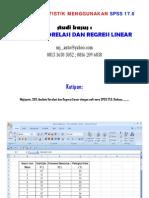 Panduan Praktis Analisis Korrelasi Dan Regresi Linear Dengan SPSS 17