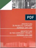 Ana Maria Zahariade , Arhitectura in Proiectul Comunist