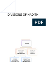Divisions of Hadith
