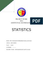 95768891 Project Work Additional Mathematics 2012 Sample Answer
