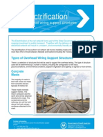 Rail Electrification Overhead Wiring Support Structures Fact Sheet