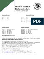 Klubmesterskab Propositioner 2015