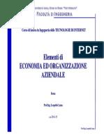1 - Ambiente, Organizzazione, Strategie