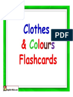 Flashcards Clothes Colours