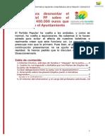 Respuesta Al Panfleto Del PP Sobre La Solicitud de 400.000 Euros