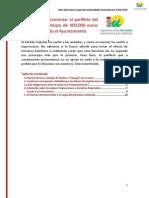 Respuesta al panfleto del PP sobre la solicitud del Ayuntamiento de 400.000 euros al OPAEF