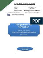 Programme de Formation Du Tronc Commun 1 Semestre