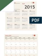 Calendar BEJV 2015