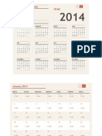 Calendar BEJV 2014