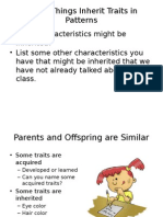 living things inherit traits2