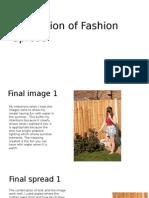 Evaluation of Fashion Spread