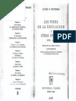 WHITEHEAD ALFRED Los Fines de La Educacion Y Otros Ensayos