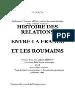 Iorga-histoire Des Relations Entre La France Et Les Roumains