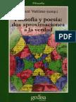 Vattimo Gianni - Filosofia y Poesia