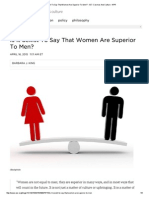 is it sexist to say that women are superior to men    13