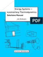 Applied Energy Systems - Rudimentary Thermodynamics Solutions Manual - Jim McGovern