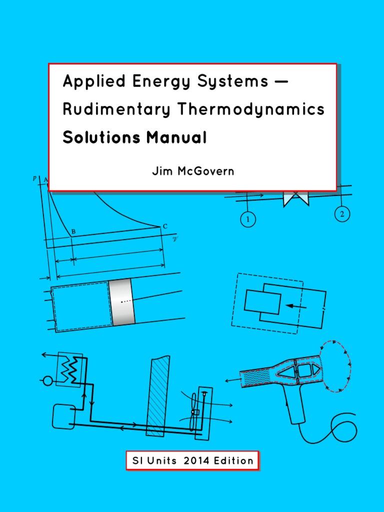 Applied Energy Systems Rudimentary Thermodynamics