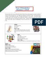 Year 6 Newsletter Summer 1 2015
