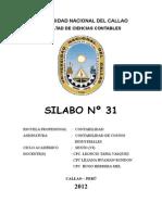 00 CONTABILIDAD DE COSTOS INDUSTRIALESSYLABO_Nº 31.doc
