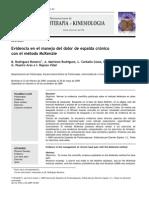 2009 Evidencia en El Manejo Del Dolor de Espalda Crónico Con El Método McKenzie