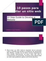Guía de 10 Pasos Para Desarrollar Un Sitio