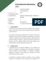 Plan de Recuperacion Pedagogica 2014