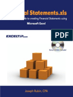 Financial Statements Using Excel