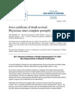 Physician Responsibility Regarding Death Certificates