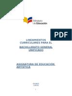 Lineamientos Educacion Artistica 1 de Bachilerato