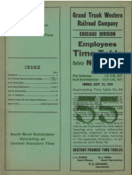 Grand Trunk Railroad Employees Timetable 1939