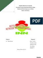 Trabajo de Nutricion Mision y Vision