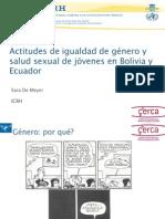 SARA DE MEYER_Actitudes de igualdad de género y salud sexual de jóvenes en Bolivia y Ecuador