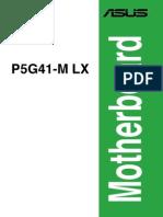 Manual Asus P5G41-M LX
