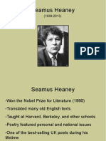 seamus heaney - 1st period