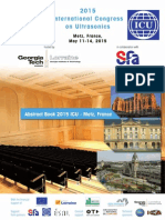 2015 ICU International Congress on Ultrasonics Abstract Book, Metz, France, Declercq N. F. editor (2015)