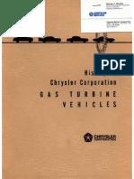 Gas Turbine Vehicles - Chrysler Corporation