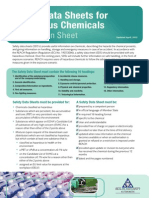 SDS Hazchem Info Sheet