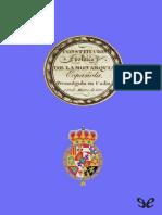 Constituci�n espa�ola de 1812 de Cortes de C�diz r1.0